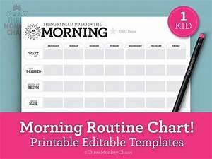 Chore Chart Checklist 1 Kid Morning Routine Chart Reward Chart Chore Chart