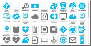 Windows Azure  And Cloud Services  Symbol And Icon Set