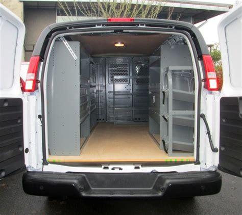 portland van shelving ladder racks van interiors