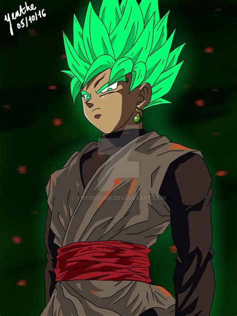 goku black super saiyan green  ynthedude  deviantart