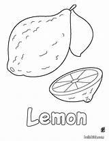 Lemon Coloring Fruit Fruits Sheets Printable Hellokids Vegetable Apple Nature sketch template
