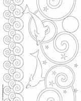 Dolphin Coloring Pattern Patterns Printable Crochet Another Template Bookmarks Colors Donteatthepaste Mandalas Printablee Artículo sketch template
