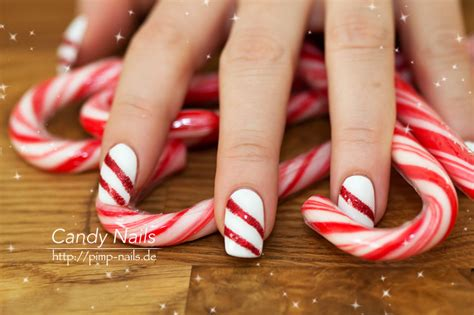 candy cane  mas weihnachts nail art planet nails pimp
