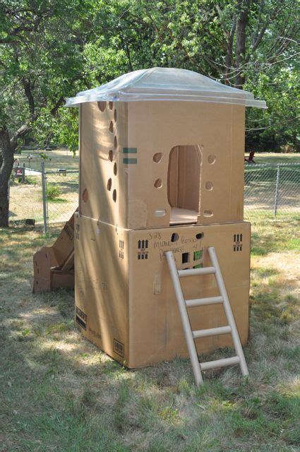 2 Story Cardboard Clubhouse Cardboard Slide