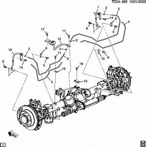 Chevrolet Silverado Hose  Hydraulic Brake  Caliperacdelco