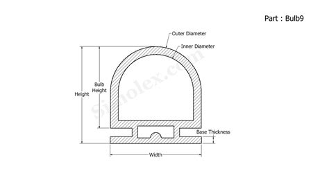 silicone bulb seals extruded door seals weather stripping