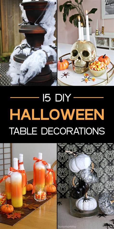 fun spooky diy halloween table decorations