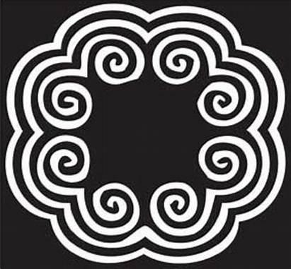 Hmong Embroidery Flower Symbol Elephant Ntaub Paj