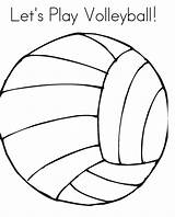 Coloring Volleyball Printable Play Cartoon Let Lets Ball Popular sketch template