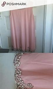 Pink pearled dress Beautiful shade of pale pink, pearl ...