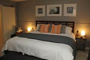 Orange and Gray Bedroom