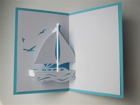 pop  karten pop  karte segelboot jacht klein
