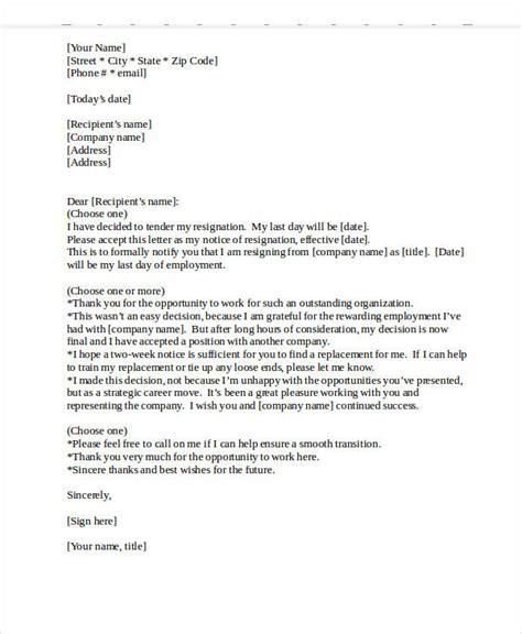 heartfelt resignation letter template   word