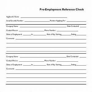 15 reference check templates to download for free sample With employment reference check form template