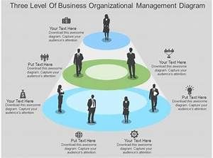 Three Level Of Business Organizational Management Diagram