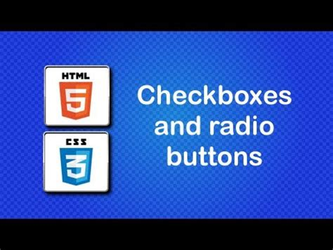 html5 and css3 beginner tutorial 42 checkboxes and radio buttons youtube