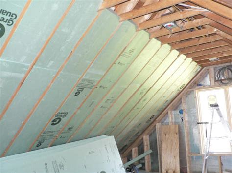 Insulating Cathedral Ceiling With Rigid Foam by The Cinemabuilder Attic Theater Construction Thread Avs