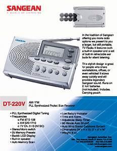 Sangean Dt220 V Dt-220v Dt-220v Manuals