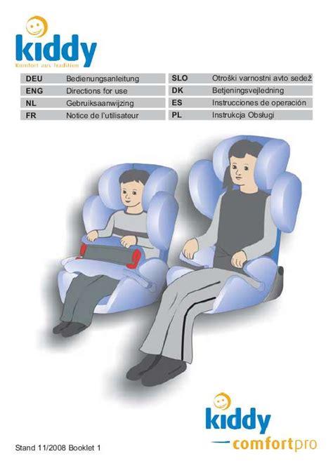 notice siege auto babideal mode d 39 emploi kiddy comfort pro siège auto trouver une