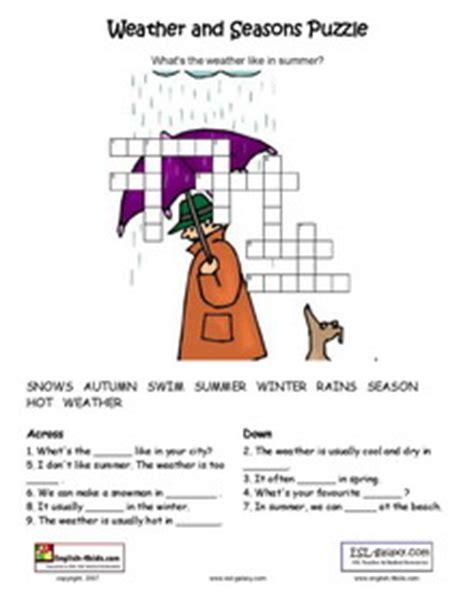 esl printable worksheets weather monthsclothes
