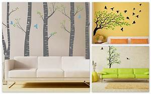 Contemporary Living Space With Modern Wall Decals Home
