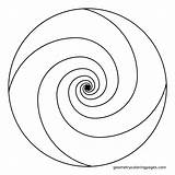 Spiral Coloring Mandala Adult Ratio Golden Swirl Simple Geometric Printable Shapes Templates Template Mandalas Stencil Patterns Mosaic Drawing Geometry Fibonacci sketch template