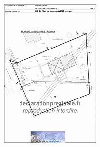 declaration prealable de travaux abri jardin plan de masse dp2 With plan de masse garage