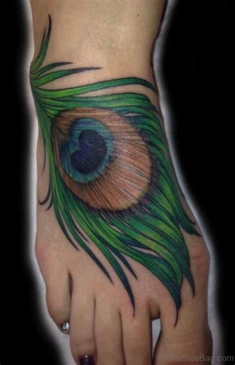 awesome peacock tattoo  foot