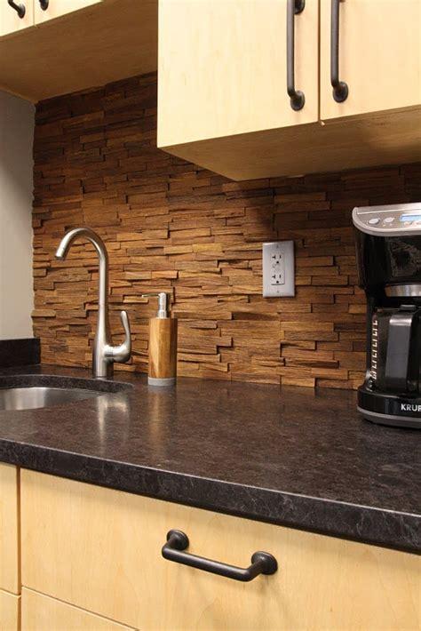 wood kitchen backsplash 1000 images about wood backsplash on woods
