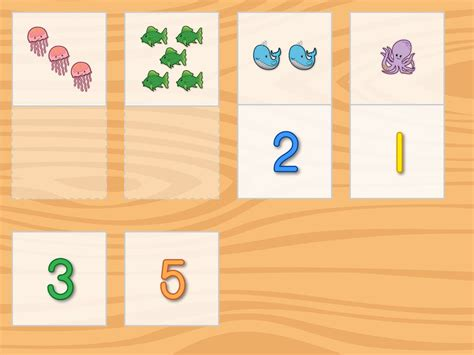 Number Pictures Matching  Math Game