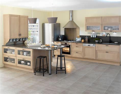 cuisine en chene blanchi les cuisines en bois le retour au naturel inspiration