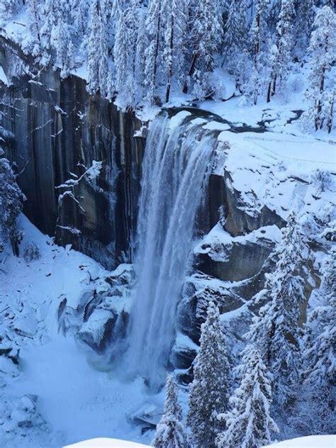 vernal falls   winter  yosemitebeautiful