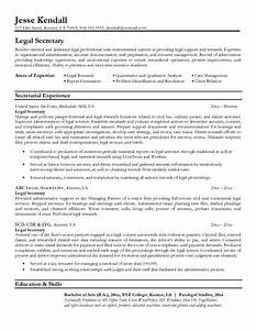 legal resumes Legal Secretary Resume Sample