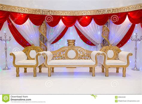 wedding stage stock photo image  decor culture