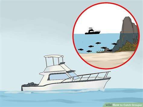 grouper catch wikihow step trolling