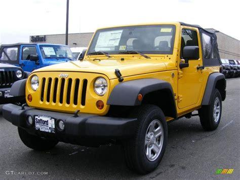 jeep yellow 2011 detonator yellow jeep wrangler sport 4x4 46776999