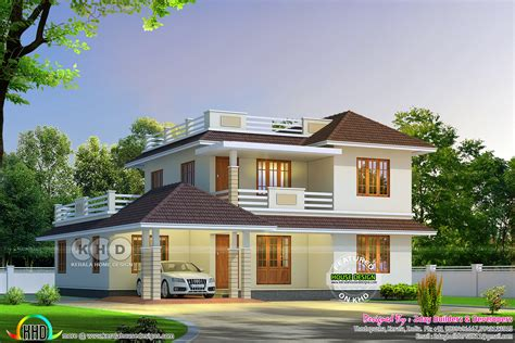 Home Design Ideas 2017 by Sloping Roof House 2680 Square Kerala Home