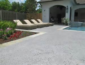 sted concrete pool deck outdoor living salt rock
