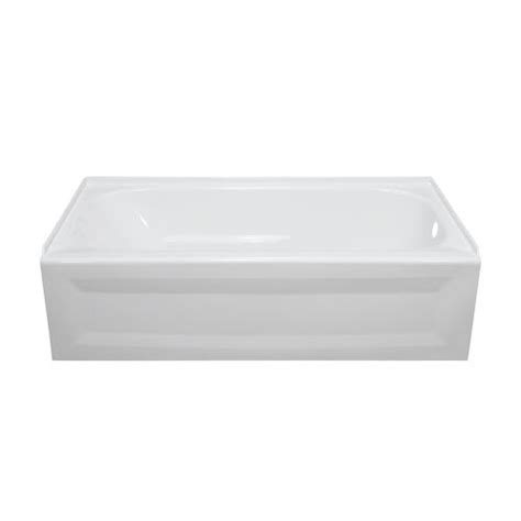 lyons elite 60 quot x 32 quot x 19 quot right hand drain bathtub at