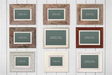 picture frame mockups volume  design panoply