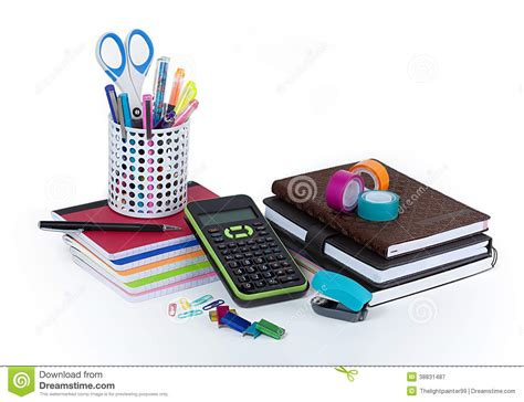 fournitures de bureau d 233 cole et photo stock image 38831487