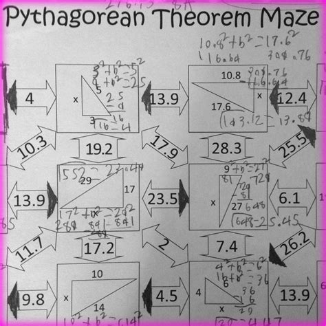 Pythagorean Theorem Worksheet Find The Missing Side