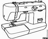 Sewing Machine Coloring Tools Colorear Printable Costura Coser Utensils Drawing Drawings Games sketch template