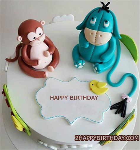 Monkey Birthday Cake Template by Monkey Birthday Cake With Name Editor 2happybirthday