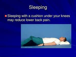 ppt back care powerpoint presentation id3117725 With alleviate lower back pain while sleeping