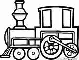 Preschool Coloring Train Pages Printable sketch template