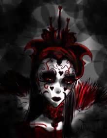 Evil Alice in Wonderland Queen of Hearts Drawing