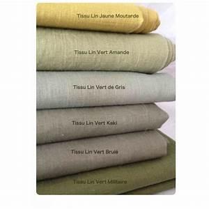 Salon Vert De Gris : tissus lin vert kaki vente en ligne de tissus en lin ~ Melissatoandfro.com Idées de Décoration