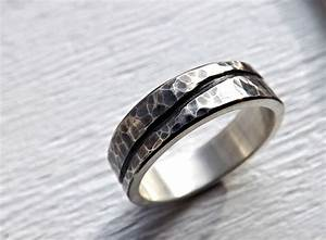 buy a custom rustic wave ring silver mens wedding band With country wedding rings for men