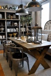 Rustic Dining Room Decorating Ideas 35 Cool Industrial Dining Rooms And Zones Digsdigs